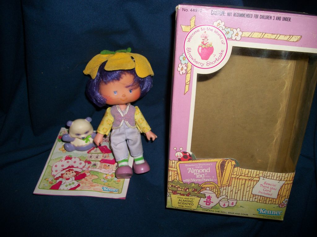 no 44970 Almond Tea & Panda w/box Kenner Strawberry Shortcake Free P&I US Buyers