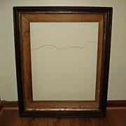 Huge Victorian Deep Walnut Picture Frame (24x30)