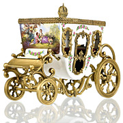 SOLD Viennese Austrian Enamel Miniature Carriage with Ormolu Mounts