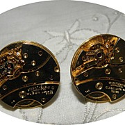 Vintage Dante Watch Mechanism Steampunk Cufflinks