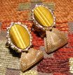 Vintage Dante Tiger Eye Mesh Wrap Around Cufflinks