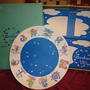 Vintage  Zodiac Letters in the Round Astrology 1970s Stationery Set in Box