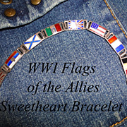 WWI Flags of the Allies Sterling Sweetheart Bracelet Bob O Link J M Fisher