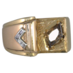Art Deco 14kt Gold Man's Diamond Ring
