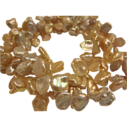 Peach Keshi Pearl Bracelet