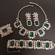 "SOLD Juliana ""Flawed Emerald"" Grand Parure, circa 1964"