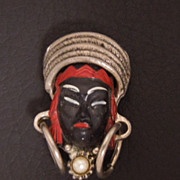 SALE Vintage SELRO Tribal Princess Pin, circa 1950s