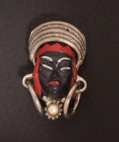 Vintage SELRO Tribal Princess Pin, circa 1950s