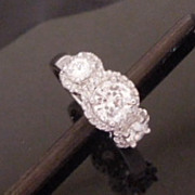 Sterling Silver and CZ Ring, Hallmarked SW