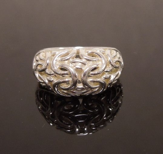 Etruscan Link Sterling Silver Ring
