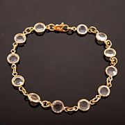 Clear White Faceted Crystal Bracelet