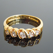 Golden Diamante Cocktail Ring