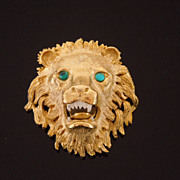 Hattie Carnegie Roaring Lion Brooch