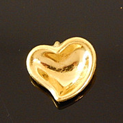 Authentic Elsa Peretti for TIFFANY & CO 24K Solid Gold Full Heart Pendant