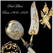 SOLD Paul Tallois: Antique French Sterling, Gold & Mother of Pearl Ice Cream Servers