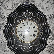 19th Century French Prayer Wall Clock