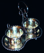 Antique Silver Cream & Sugar Set