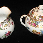 "Old Dresden ""Schumann"" Sugar & Creamer Set"