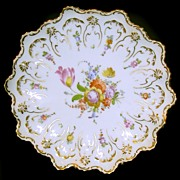Old Dresden Set of Six Dessert Plates