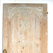 19th Century French Oak Carved Door