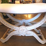 19th Century French Louis XVI Style Painted Bench