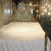 "18th Century Spanish Painted Bed with ""Madonna"""