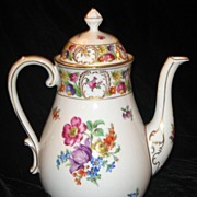 Schumann Dresden Large Floral Coffee Pot /Teapot/Chocolate Pot