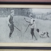 Custom Made Hunter and Farmer Print 12 1/2in x 8in  Vintage Paper