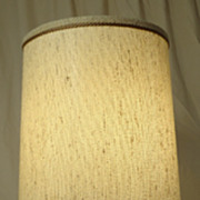 Custom Made Italian Crystal Lamp with Shade 28in x 12in x 12in D-6185 Vintage Crystal Metal