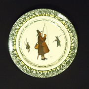 Royal Doulton D2312-15 Isaac Walton Wear Fisherman Plate 10 1/2in Earthenwear