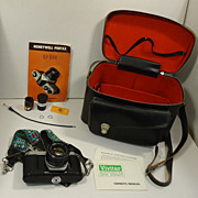 Honeywell Pentax SP-500 Camera with Case Vintage 3247818 Metal Plastic