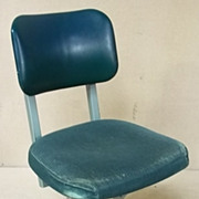 Office Vintage Task Chair Green 34in x 20in x 18in