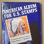 Scott  Vintage American Album for U.S. Stamps 1940 Hundreds of Stamps Paper