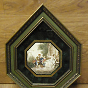 Custom Made BRI 102864-2302 Vintage Picture Frame Art 13in x 11in x 1in Glass Wood