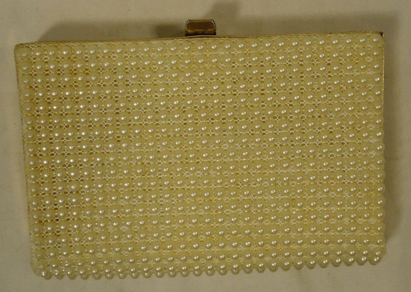 JR Purse Faux Pearls Female Adult Clutch Cream Pearls 25-26-9r