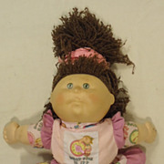 Cabbage Patch BF456 Vintage First Edition Baby Doll Plastic Fabric