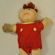Cabbage Patch Kids  Vintage Red Head Baby Doll Plastic Fabric