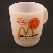 SALE Vintage Fire-King McDonald's Promotional Coffee Mug