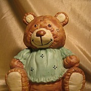 Vintage Collectible Ceramic Still Bank: Teddy Bear