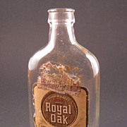 Royal Oak Miniature Whiskey Bottle