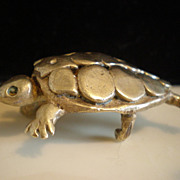 C Tasha Brass Turtle Belt Buckle
