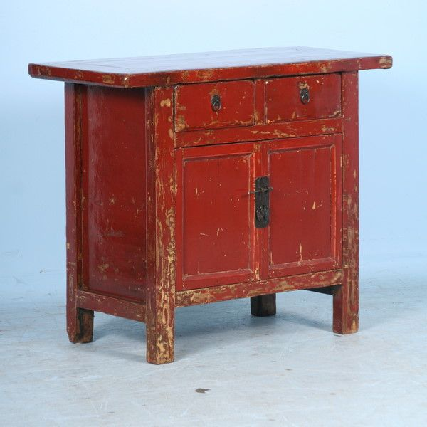 red distressed furniture 1 785 small antique red