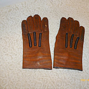 SALE Vintage Child's Leather Gloves