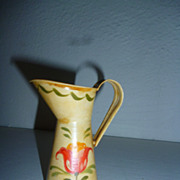 "Pretty Folk Art Mini Pitcher ( 3 1/2"")   for Doll Accessory"