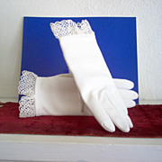 Summer Gloves with Lacey Edge
