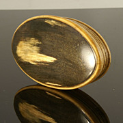 Georgian Oval Horn Snuff Box