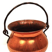 SOLD Old French Standing Kettle Copper Pot w/Handle