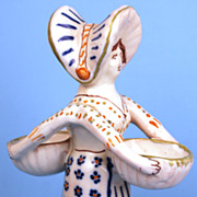SOLD French Quimper Selier (Salt Cellar)