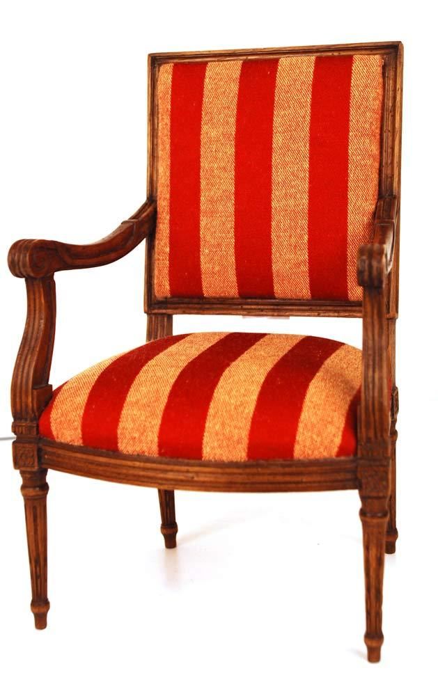 Miniature Wooden French Fauteuil (Chair)