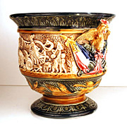 SOLD Antique Nineteenth Century French Majolica Cache Pot